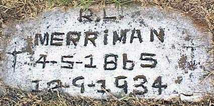 MERRIMAN, ROBERT LINCOLN - Tarrant County, Texas   ROBERT LINCOLN MERRIMAN - Texas Gravestone Photos