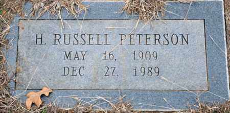 PETERSON, H RUSSELL - Tarrant County, Texas | H RUSSELL PETERSON - Texas Gravestone Photos