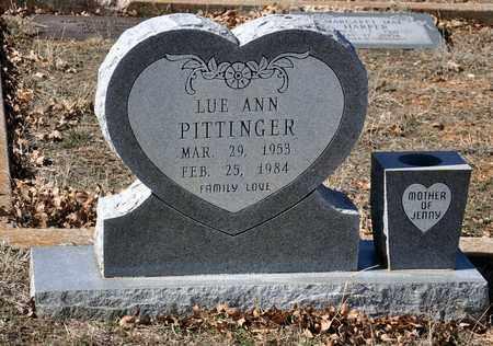PITTINGER, LUE ANN - Tarrant County, Texas | LUE ANN PITTINGER - Texas Gravestone Photos