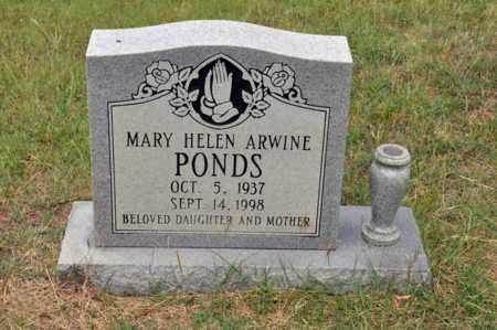 ARWINE PONDS, MARY HELEN - Tarrant County, Texas | MARY HELEN ARWINE PONDS - Texas Gravestone Photos