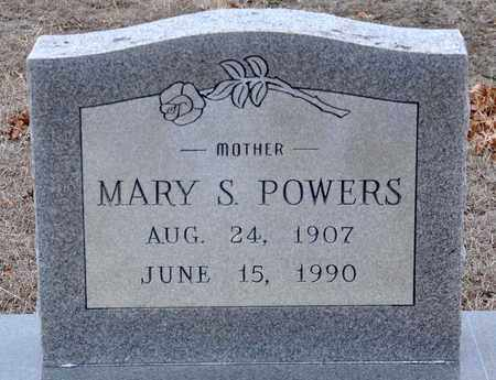 POWERS, MARY S - Tarrant County, Texas | MARY S POWERS - Texas Gravestone Photos