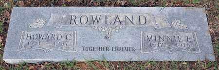 ROWLAND, MINNIE E - Tarrant County, Texas   MINNIE E ROWLAND - Texas Gravestone Photos