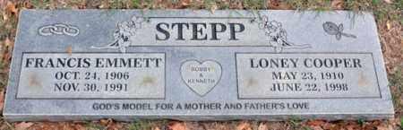 STEPP, FRANCIS EMMETT - Tarrant County, Texas | FRANCIS EMMETT STEPP - Texas Gravestone Photos
