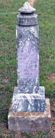 VALENTINE, ANNIE - Tarrant County, Texas | ANNIE VALENTINE - Texas Gravestone Photos