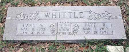 WHITTLE, FAYE BELLE - Tarrant County, Texas | FAYE BELLE WHITTLE - Texas Gravestone Photos