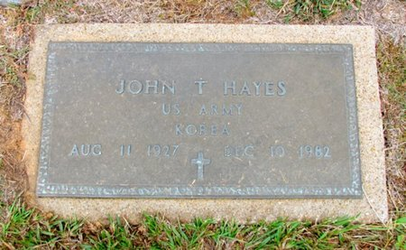 HAYES (VETERAN KOR), JOHN T - Titus County, Texas | JOHN T HAYES (VETERAN KOR) - Texas Gravestone Photos
