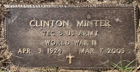 MINTER (VETERAN WWII), CLINTON - Titus County, Texas | CLINTON MINTER (VETERAN WWII) - Texas Gravestone Photos