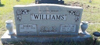 WILLIAMS, SR, LORECE - Titus County, Texas | LORECE WILLIAMS, SR - Texas Gravestone Photos