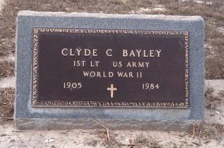 BAYLEY (VETERAN WWII), CLYDE C - Val Verde County, Texas   CLYDE C BAYLEY (VETERAN WWII) - Texas Gravestone Photos