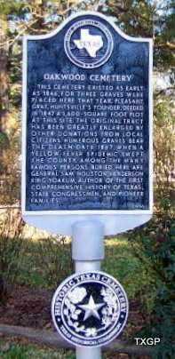 *HISTORIC MARKER,  - Walker County, Texas    *HISTORIC MARKER - Texas Gravestone Photos