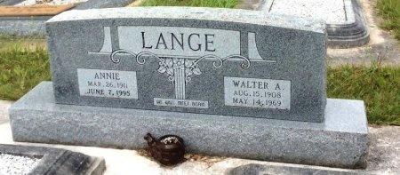 LANGE, WALTER A. - Washington County, Texas | WALTER A. LANGE - Texas Gravestone Photos