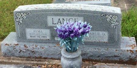 LANGE, ALMA - Washington County, Texas | ALMA LANGE - Texas Gravestone Photos