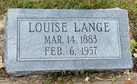 LANGE, LOUISE - Washington County, Texas   LOUISE LANGE - Texas Gravestone Photos