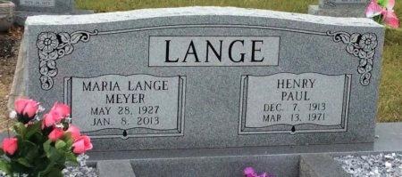 LANGE, MARIA  - Washington County, Texas | MARIA  LANGE - Texas Gravestone Photos