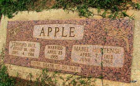 HUFFMAN APPLE, MABEL HORTENSE - Wilbarger County, Texas | MABEL HORTENSE HUFFMAN APPLE - Texas Gravestone Photos