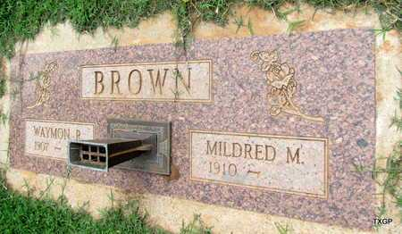 BROWN, MILDRED M - Wilbarger County, Texas | MILDRED M BROWN - Texas Gravestone Photos