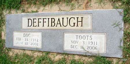 DEFFIBAUGH, TOOTS - Wilbarger County, Texas | TOOTS DEFFIBAUGH - Texas Gravestone Photos