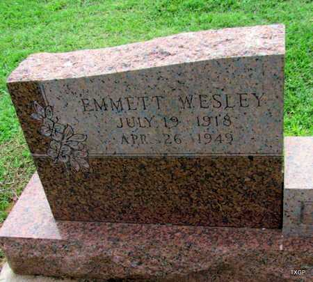 DUDLEY, EMMETT WESLEY (CLOSE UP) - Wilbarger County, Texas   EMMETT WESLEY (CLOSE UP) DUDLEY - Texas Gravestone Photos