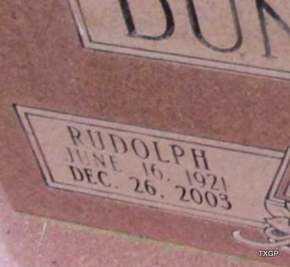 DUNCAN, RUDOLPH (CLOSE UP) - Wilbarger County, Texas   RUDOLPH (CLOSE UP) DUNCAN - Texas Gravestone Photos
