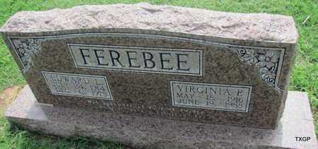 FEREBEE, VIRGINIA P - Wilbarger County, Texas | VIRGINIA P FEREBEE - Texas Gravestone Photos