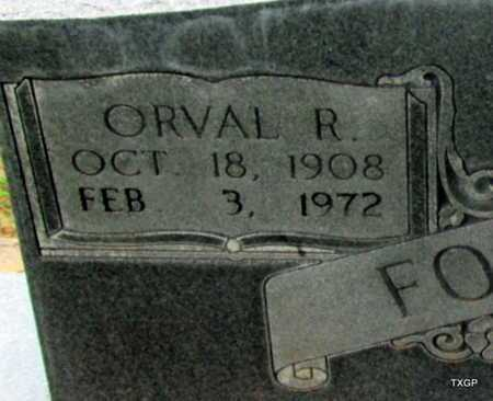 FOSTER, ORVAL R (CLOSE UP) - Wilbarger County, Texas | ORVAL R (CLOSE UP) FOSTER - Texas Gravestone Photos
