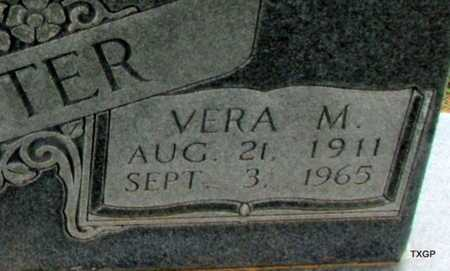 FOSTER, VERA M (CLOSE UP) - Wilbarger County, Texas | VERA M (CLOSE UP) FOSTER - Texas Gravestone Photos