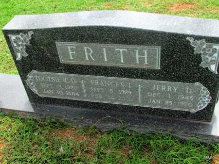 FRITH, FRANCES I - Wilbarger County, Texas   FRANCES I FRITH - Texas Gravestone Photos