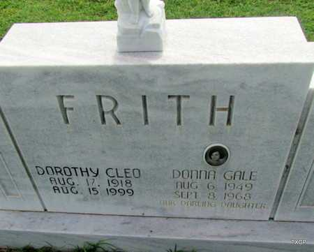 FRITH, DOROTHY CLEO (CLOSE UP) - Wilbarger County, Texas | DOROTHY CLEO (CLOSE UP) FRITH - Texas Gravestone Photos