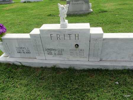 FRITH, THOMAS J - Wilbarger County, Texas | THOMAS J FRITH - Texas Gravestone Photos