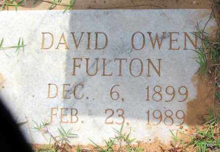 FULTON, DAVID OWEN - Wilbarger County, Texas | DAVID OWEN FULTON - Texas Gravestone Photos