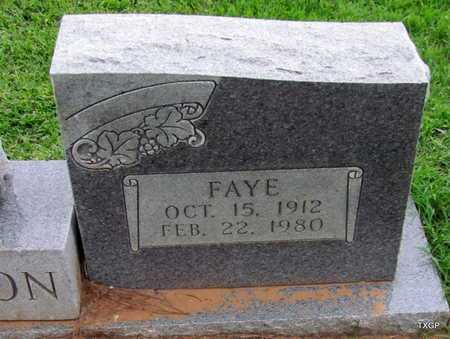 GIBSON, FAYE (CLOSE UP) - Wilbarger County, Texas | FAYE (CLOSE UP) GIBSON - Texas Gravestone Photos