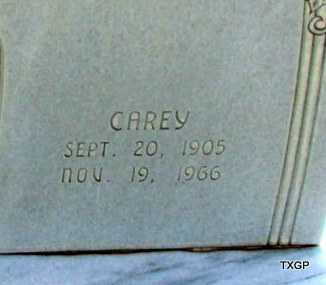 GOODGAME, CAREY (CLOSE UP) - Wilbarger County, Texas | CAREY (CLOSE UP) GOODGAME - Texas Gravestone Photos