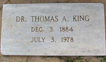 KING, DR, THOMAS A - Wilbarger County, Texas | THOMAS A KING, DR - Texas Gravestone Photos