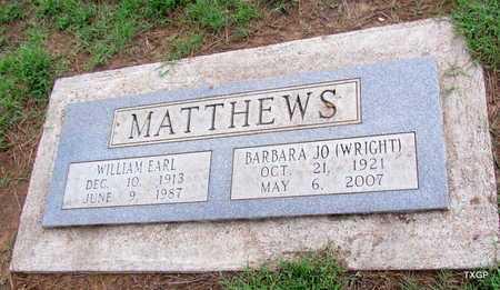 MATTHEWS, WILLIAM EARL - Wilbarger County, Texas | WILLIAM EARL MATTHEWS - Texas Gravestone Photos