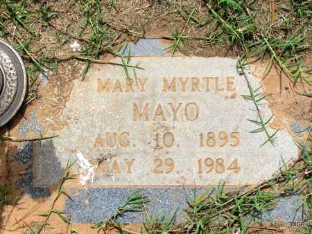 MAYO, MARY MYRTLE - Wilbarger County, Texas | MARY MYRTLE MAYO - Texas Gravestone Photos