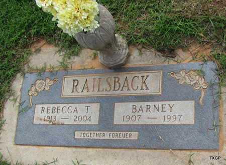 RAILSBACK, BARNEY - Wilbarger County, Texas | BARNEY RAILSBACK - Texas Gravestone Photos