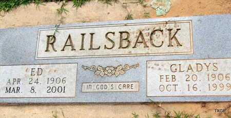 RAILSBACK, ED - Wilbarger County, Texas | ED RAILSBACK - Texas Gravestone Photos