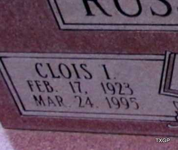 RUSSELL, CLOIS IRVIN (CLOSE UP) - Wilbarger County, Texas | CLOIS IRVIN (CLOSE UP) RUSSELL - Texas Gravestone Photos