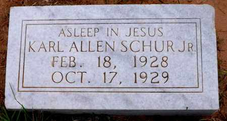 SCHUR, JR, KARL ALLEN - Wilbarger County, Texas | KARL ALLEN SCHUR, JR - Texas Gravestone Photos