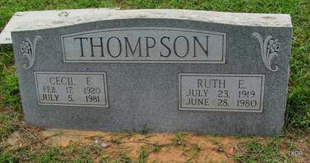 THOMPSON, RUTH E - Wilbarger County, Texas | RUTH E THOMPSON - Texas Gravestone Photos