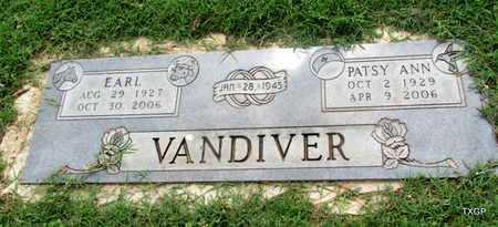 "FLOYD VANDIVER, PATSY ANN ""NANA"" - Wilbarger County, Texas | PATSY ANN ""NANA"" FLOYD VANDIVER - Texas Gravestone Photos"