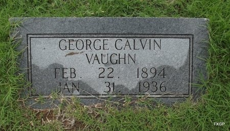 VAUGHN, GEORGE CALVIN - Wilbarger County, Texas | GEORGE CALVIN VAUGHN - Texas Gravestone Photos