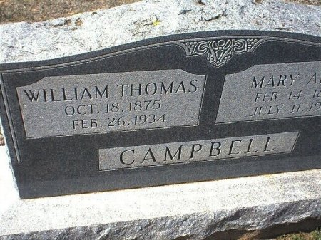 CAMPBELL, WILLIAM THOMAS - Wise County, Texas   WILLIAM THOMAS CAMPBELL - Texas Gravestone Photos