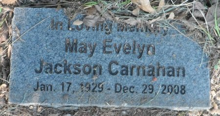 JACKSON CARNAHAN, MAY EVELYN - Wise County, Texas | MAY EVELYN JACKSON CARNAHAN - Texas Gravestone Photos