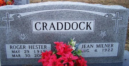 CRADDOCK, ROGER HESTER - Wood County, Texas   ROGER HESTER CRADDOCK - Texas Gravestone Photos