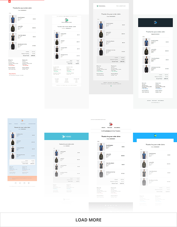 Magento Email Templates - Available Styles