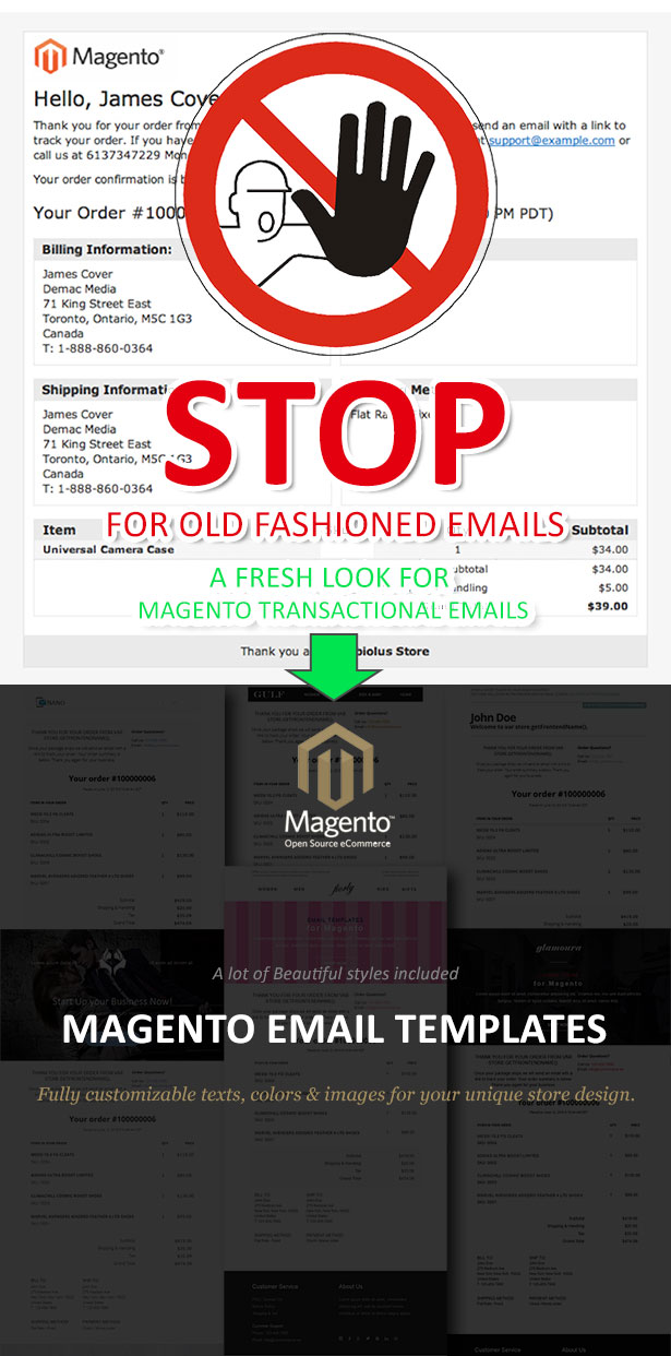 Magento Email Templates - Preview
