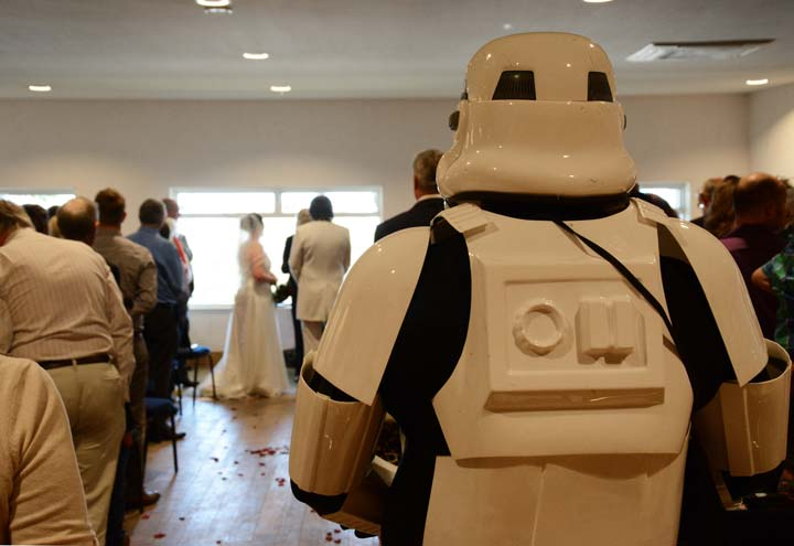 Star Wars wedding stormtrooper