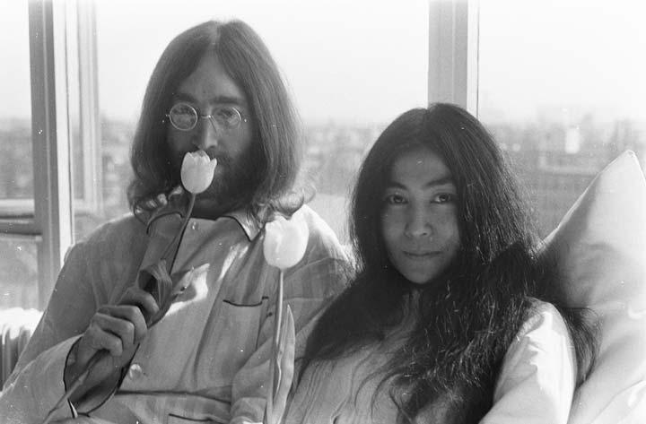 Yoko Ono and John Lennon's Bed-in