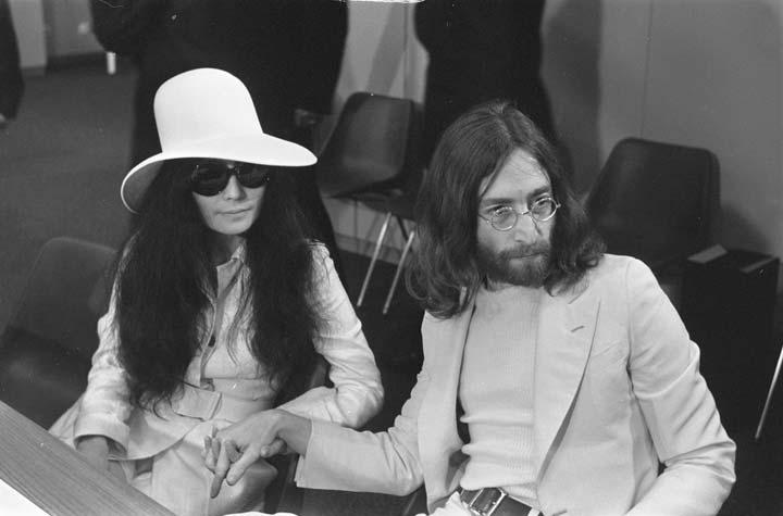 Yoko Ono at her wedding